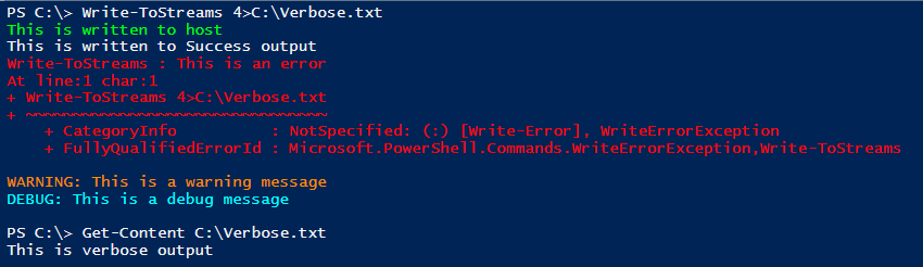Programmatically capture Verbose Output in a PowerShell variable
