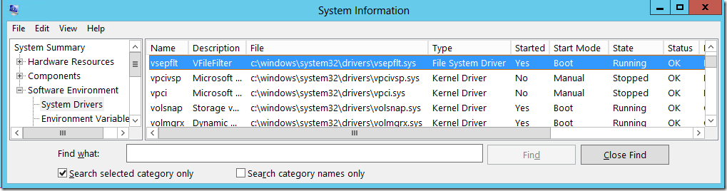PowerShell: Check if VMware vShield driver is installed and