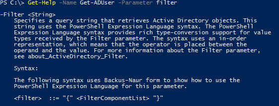 PowerShell, ActiveDirectory and the elusive Filter parameter
