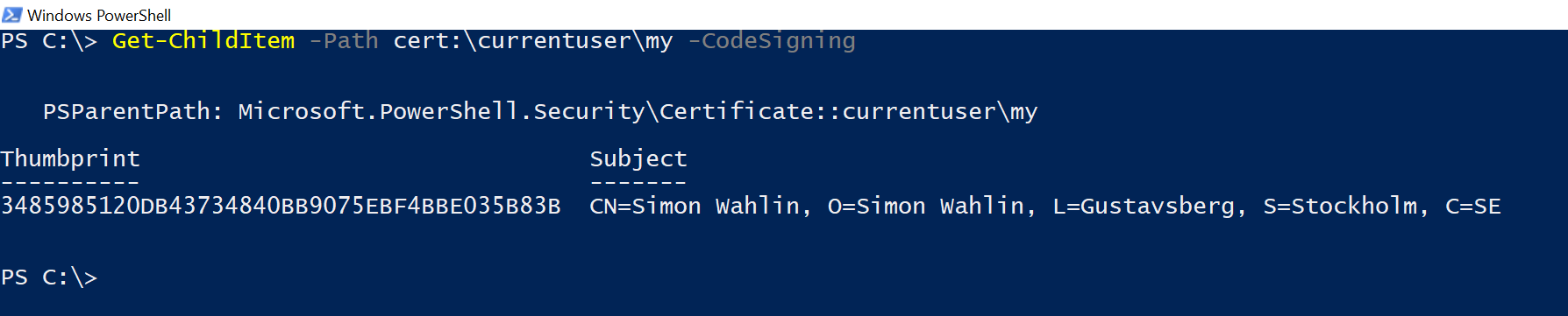 Using a Yubikey for PowerShell CodeSigning